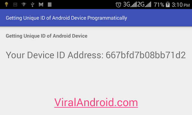 Android Example: How to Get a Unique ID of Android Device
