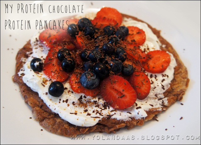 MyProtein Chocolate Protein Pancake Mix Recipe with Berries