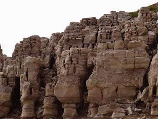 wisata batu kapur di waduk wadaslintang wonosobo