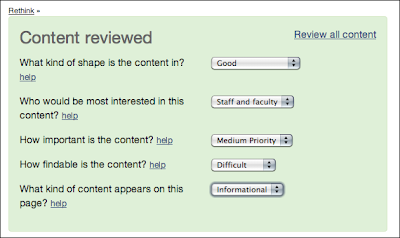 Content reviewed (screen)