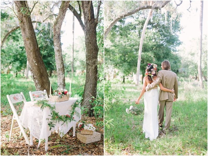 south florida garden inspired stylized wedding photo