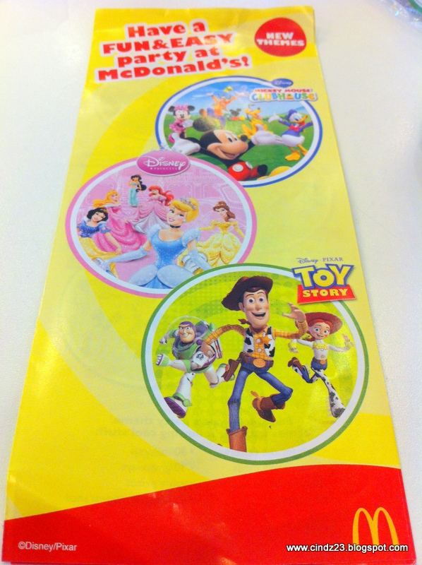 All About Family Mcdonalds Birthday Party Package Reservation