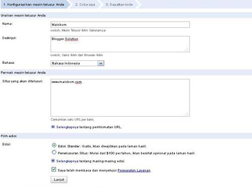 Cara Membuat Google Custom Search Engine Sendiri
