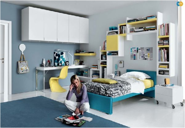 Key interiors by shinay cool modern teen girl bedrooms for Cool teen bedroom ideas