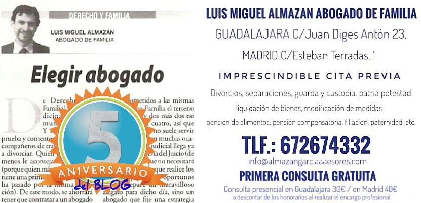 Luis Miguel Almazán, ABOGADO DE FAMILIA