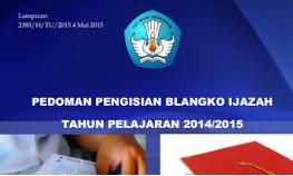 Petunjuk Teknis Penulisan Ijazah dan SKHUAMBN Madrasah Tahun Ajaran 2014/2015