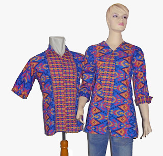 Batik sarimbit blus biru