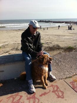 JOE AND MAX ENJOY THE SUNSHINE IN GALVESTON