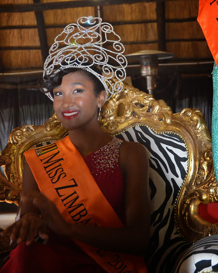 Miss Zimbabwe 2014 winner Catherine Makaya
