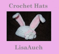 Crochet Easter Bunny Ear Hat