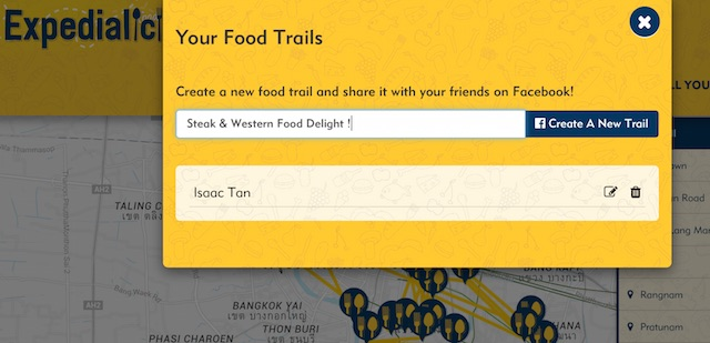 Expedialicious Food Trails creation