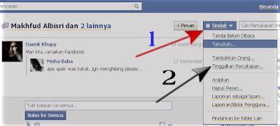 Cara keluar dari pesan spam di facebook gambar1