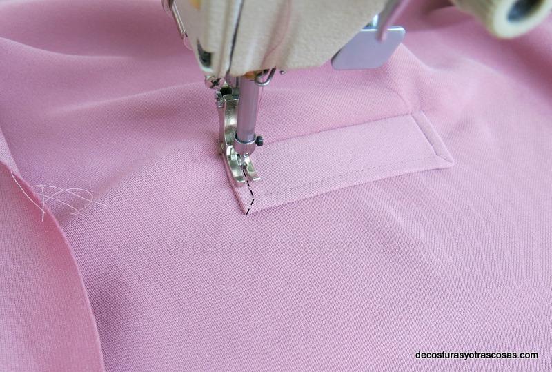 como se hace un bolsillo para chaqueta o abrigo