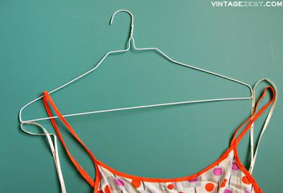 DIY No-Slip Hangers on Diane's Vintage Zest!  #free #organization #tip