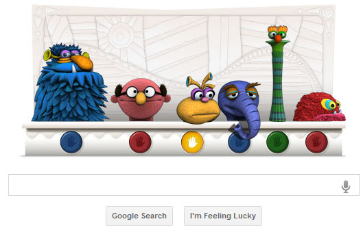 Google Doodle Jim Henson's 75th Birthday