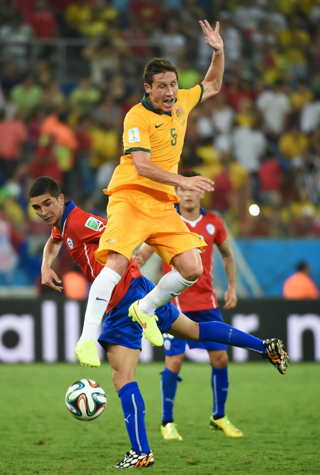 Australia Squad, Brazil, Chile Squad, Chile vs Australia, FIFA World Cup, FIFA World Cup 2014, Football, Football Fans, Sports, Group B, Tim Cahill, Claudio Bravo, Gary Medel, Mathew Leckie
