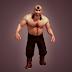 Ancient mongolian wrestler 3D model