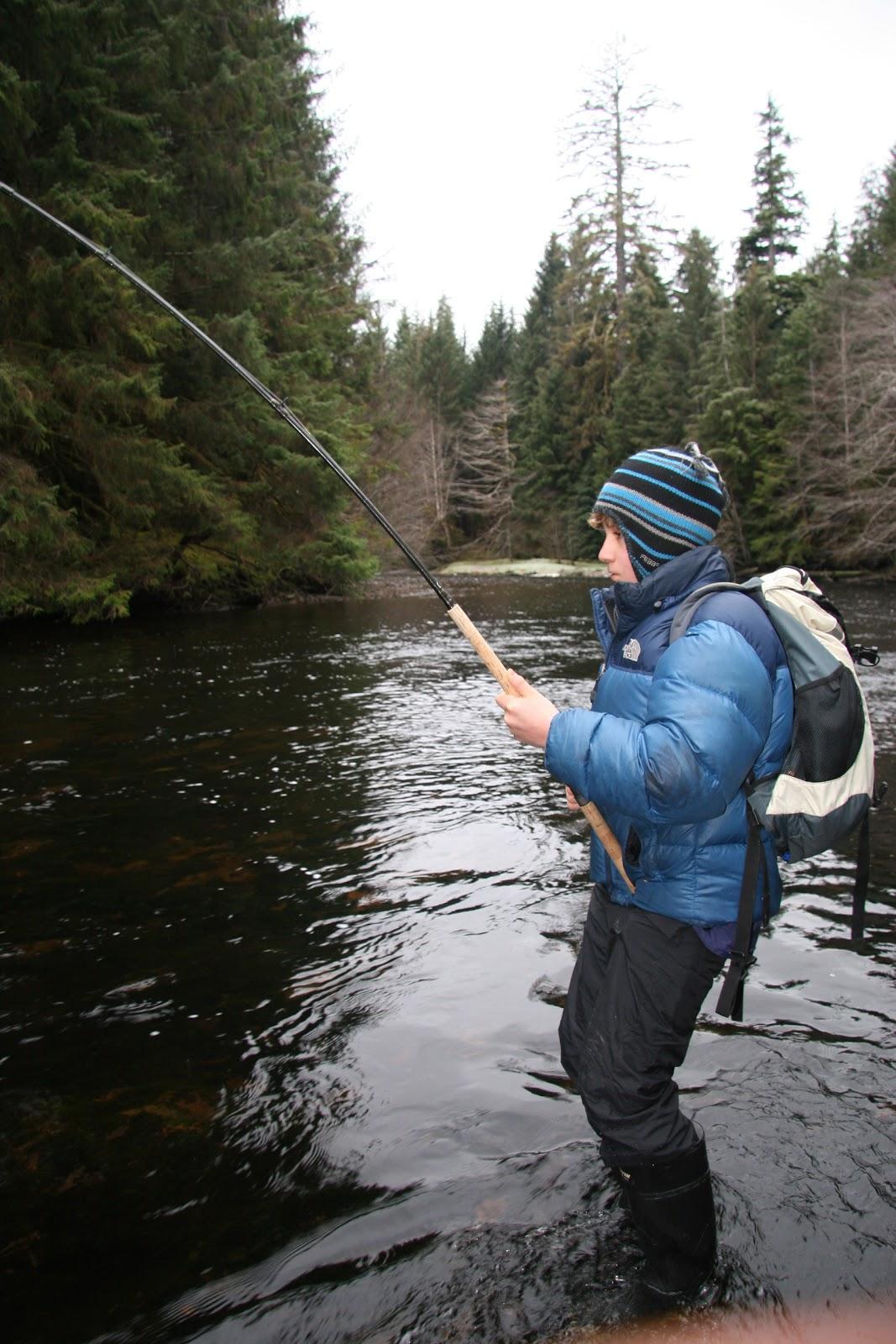 Escott sportfishing winter steelhead fishing on the haida for Winter steelhead fishing