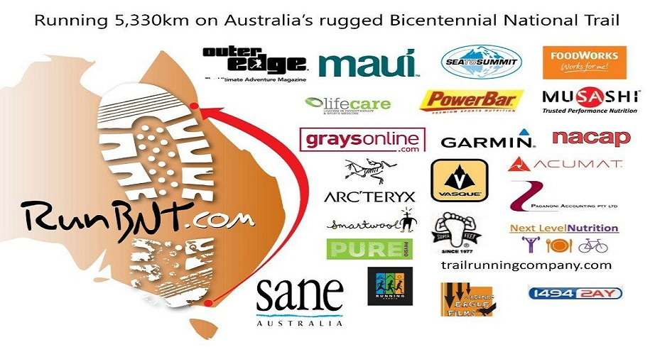 Run BNT.......5330km on Australia's National Trail