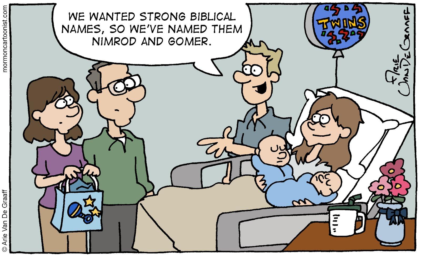 Mormon Cartoonist: Unfortunate Bible Names