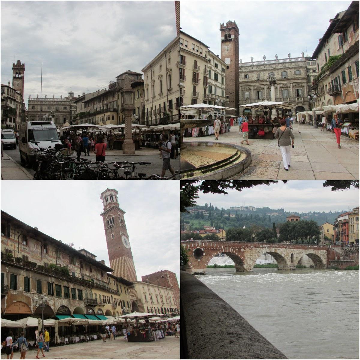 Itália, Verona, Centro, praça, Piazza Delle Erbe