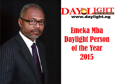 NBC DG, Emeka Mba Is Daylight Newspaper Person of the Year
