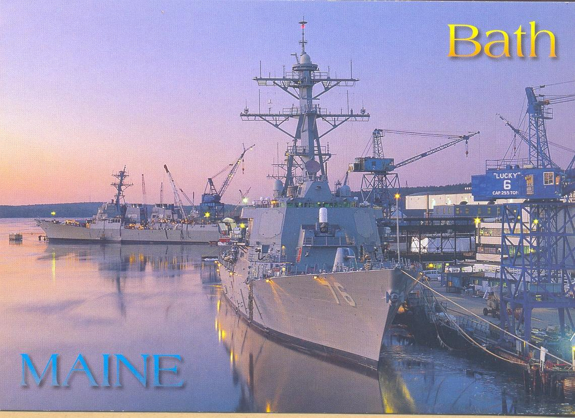 Bath Iron Works : My picture postcards bath iron works