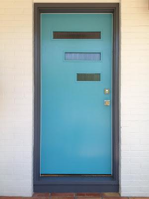 Mid century front doors on pinterest modern door glass - Mid century exterior doors ...