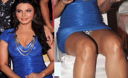 Rakhi Sawant was caught on camera showing off a bit too much at a