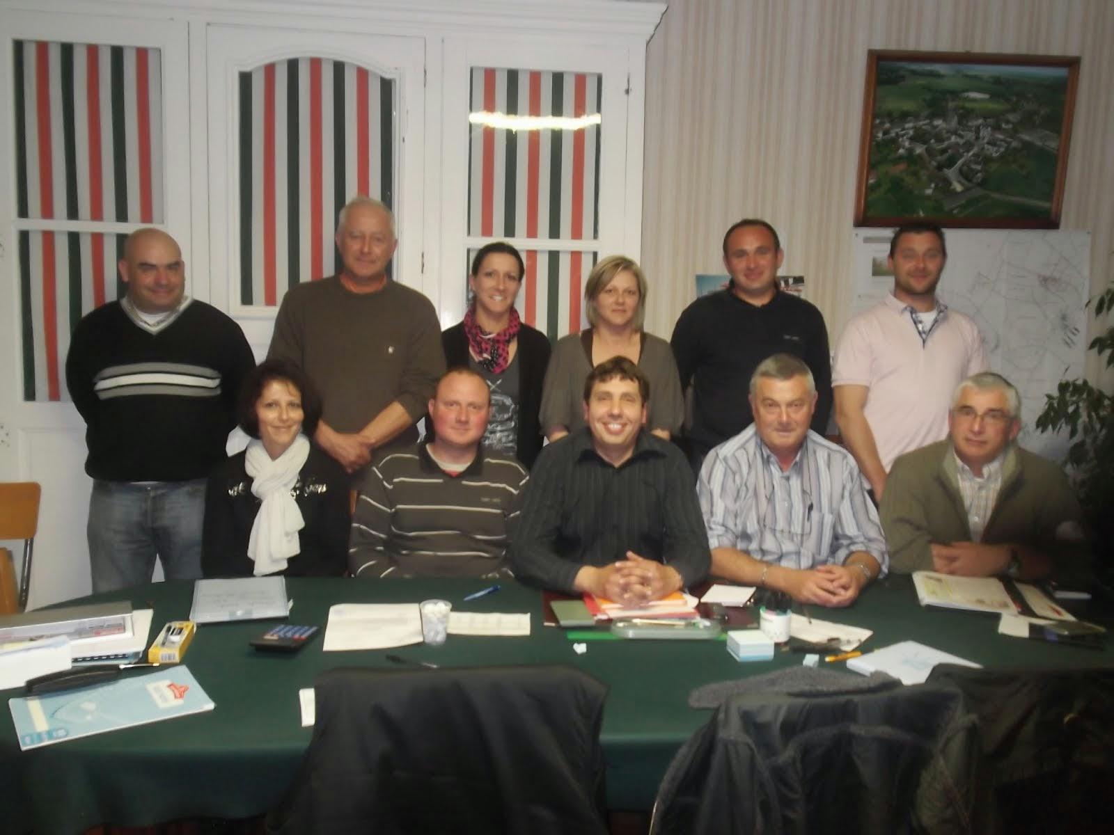 les membres du conseil municipal élus en 2014