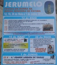 Jerumelo (Mafra)- Festas em H de N Sr de Ftima 2013- 12,19, 26 Maio e 1 Junho