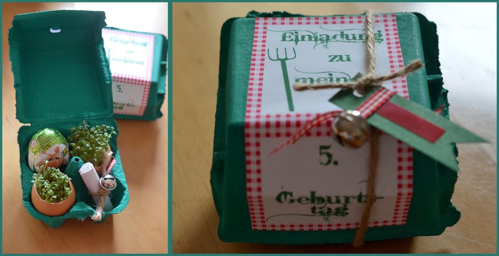 ninas kleiner food-blog: bauernhof-geburtstag, Einladung