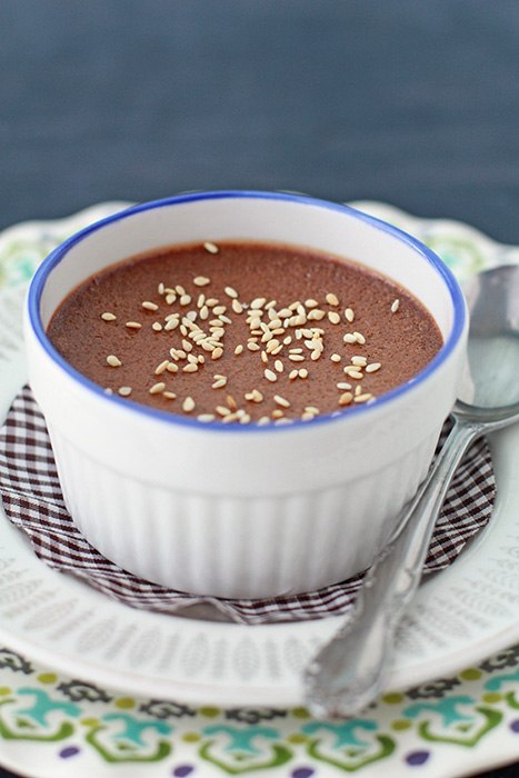 chocolate sesame pots de crème