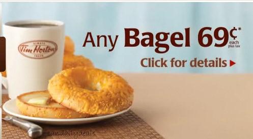 canadian daily deals tim hortons canada 69 cent bagel. Black Bedroom Furniture Sets. Home Design Ideas
