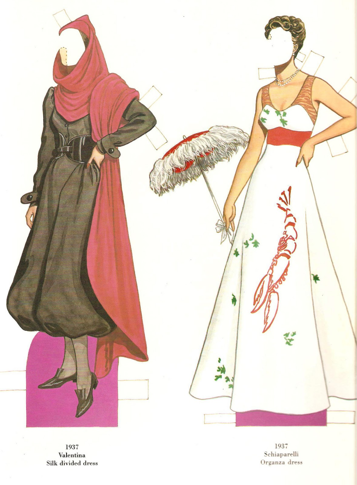 French fashion designers paper dolls Lavender and Lace cross stitch patterns and kits
