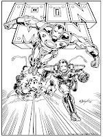 Gambar Iron Man Menghindari Serangan Musuh