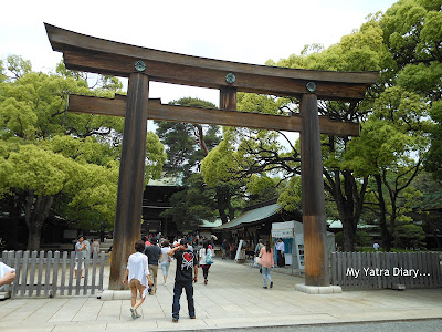 The third torrii gate at the Meiji Jingu Shrine, Tokyo