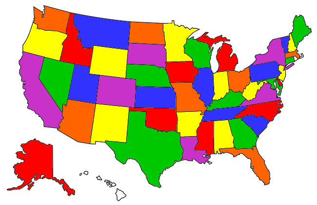 States visited in RV
