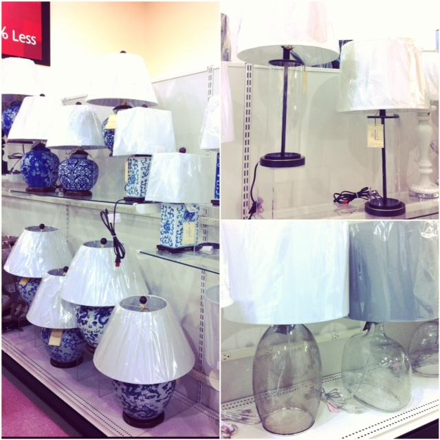 Lamps, Lamps And More Lamps...just No White Lamps. Sigh.