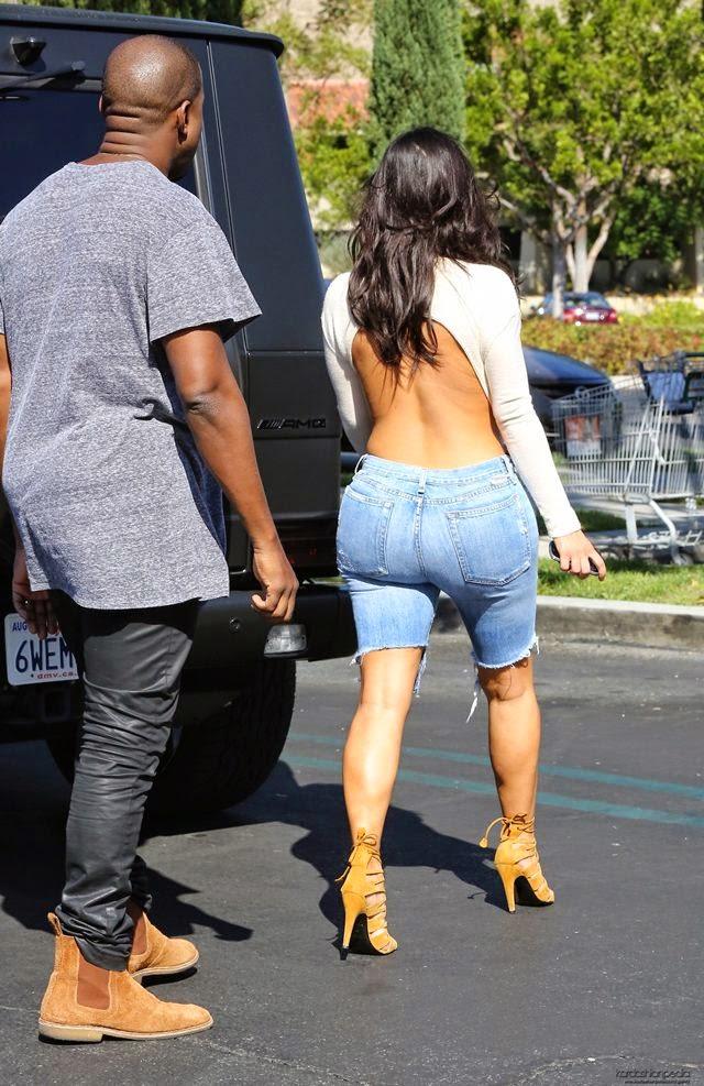 Kim Kardashian in Shorts, Leaving a Movie Theater in Calabasas