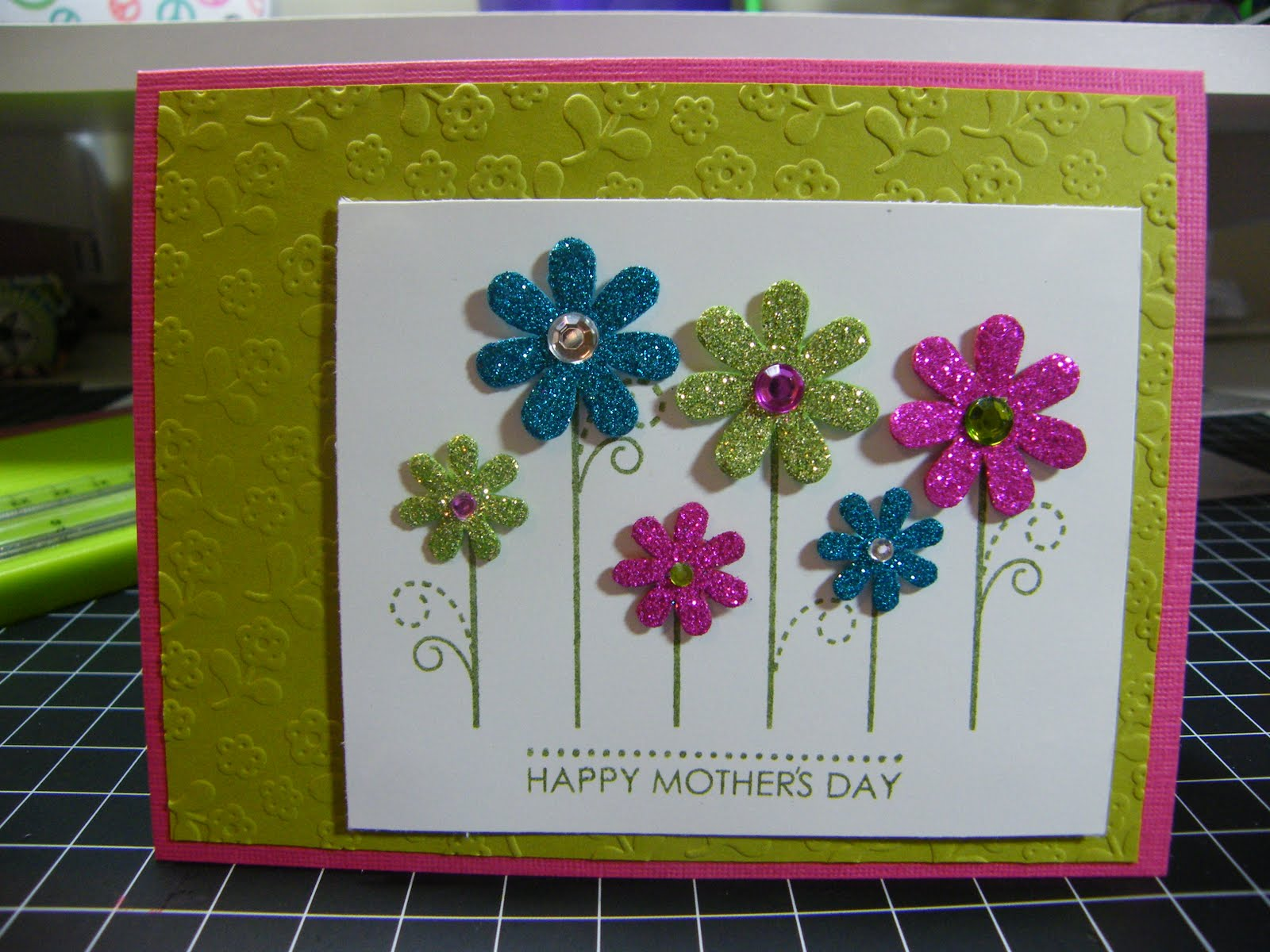 Peace Love Scrapbooking Mothers Day Card