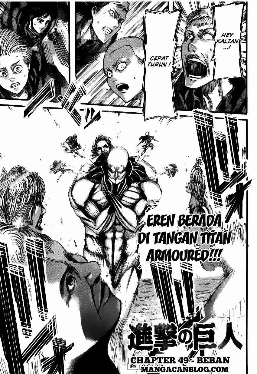Komik shingeki no kyojin 049 - beban 50 Indonesia shingeki no kyojin 049 - beban Terbaru 1|Baca Manga Komik Indonesia|Mangacan