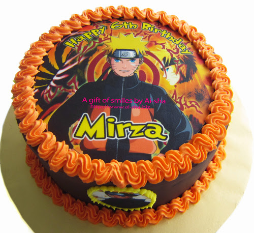 Birthday Cake Edible Image  Naruto
