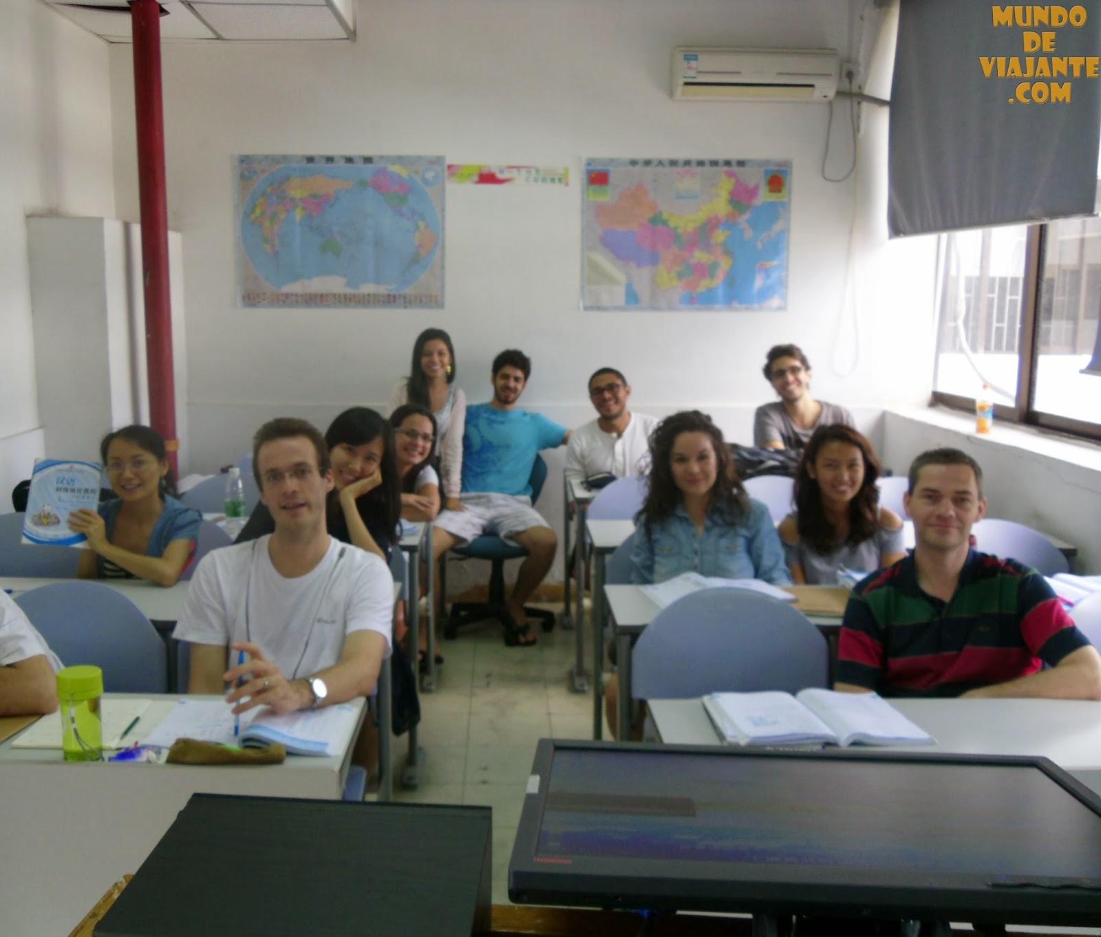 Estudar na China: minha sala de aula