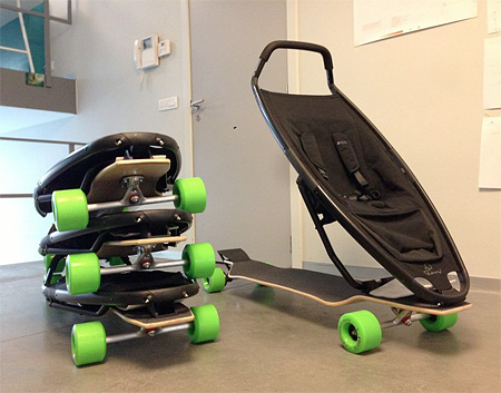 something amazing amazing longboard stroller
