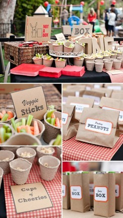 Earth Day cardboard themed party