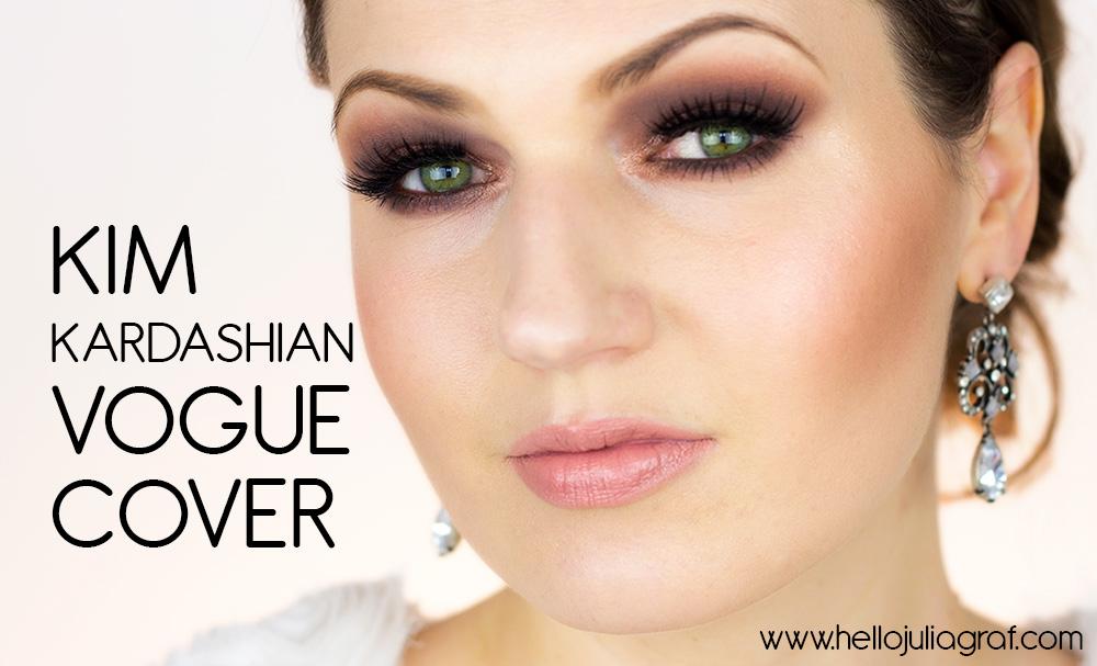 Julia graf kim kardashian vogue cover makeup