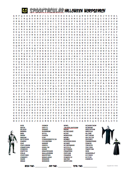 Free Truly Terrible & Spooktacular Halloween Word Search ...