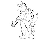 #15 Fox McCloud Coloring Page