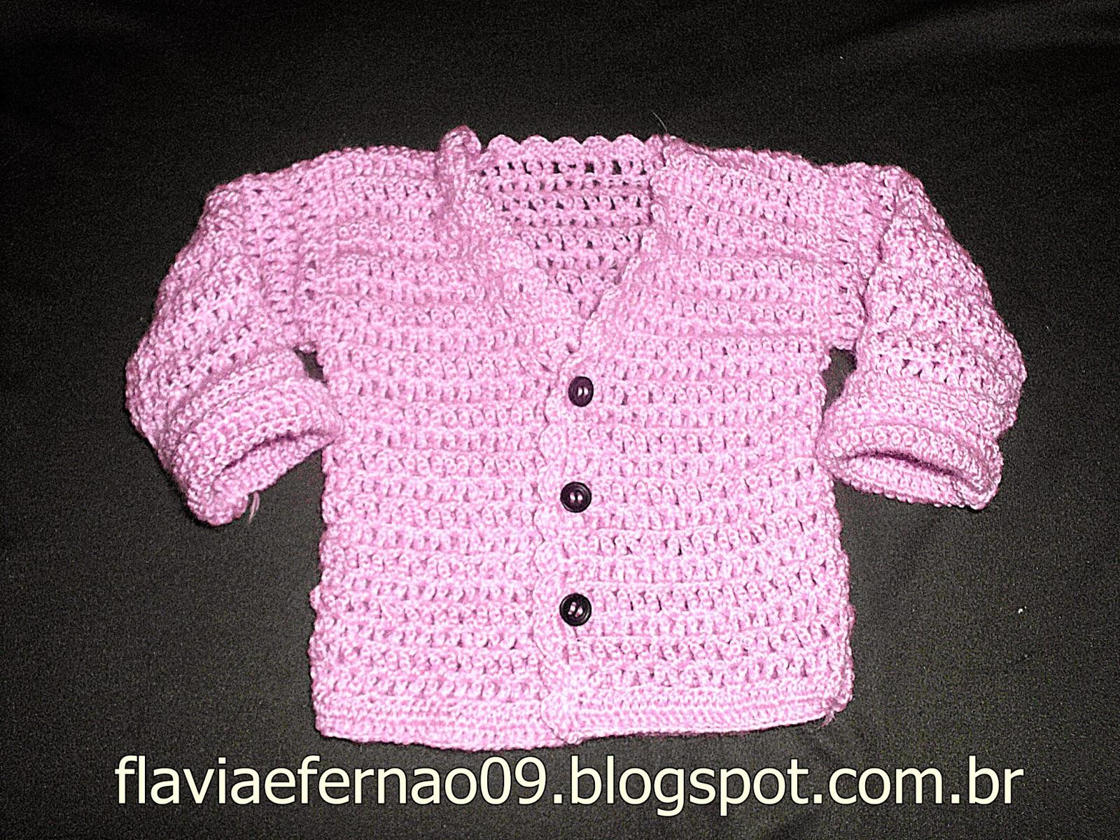 Famosos CASAQUINHOS PARA BEBÊ EM CROCHÊ COM RECEITA (CLOTHING-FOR-BABIES  TT96